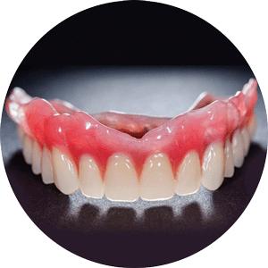 denture cosmetic circle