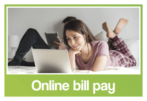 Image of the online bill pay logo.