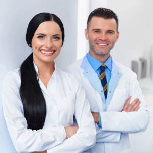 smiling doctors at offices
