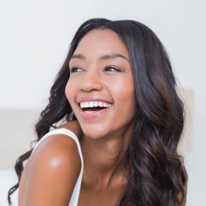smiling woman patient